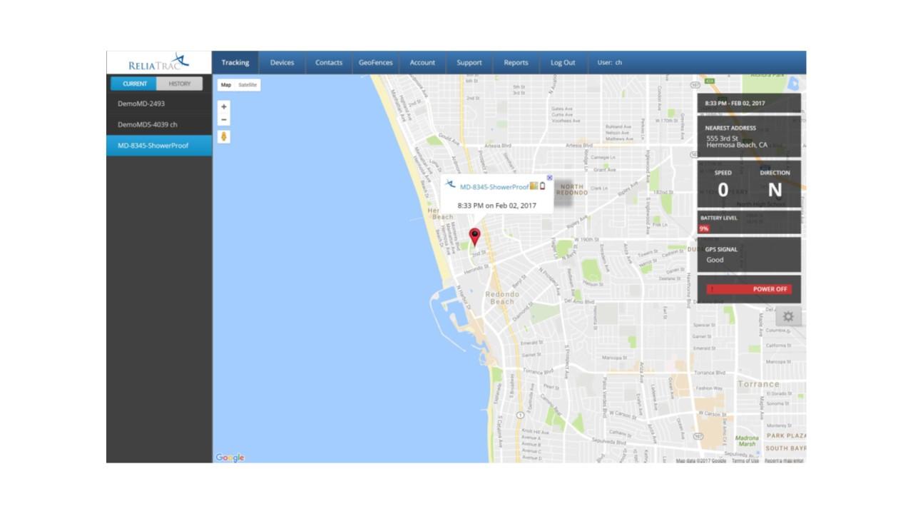 ReliaTrac Tracking Page